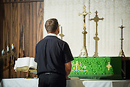 The Rev. Adam DeGroot leads afternoon worship during the 2014 Youth Corps pilot project at Shepherd of the City Lutheran Church on Tuesday, August 12, 2014, in Philadelphia, Pa. LCMS Communications/Erik M. Lunsford