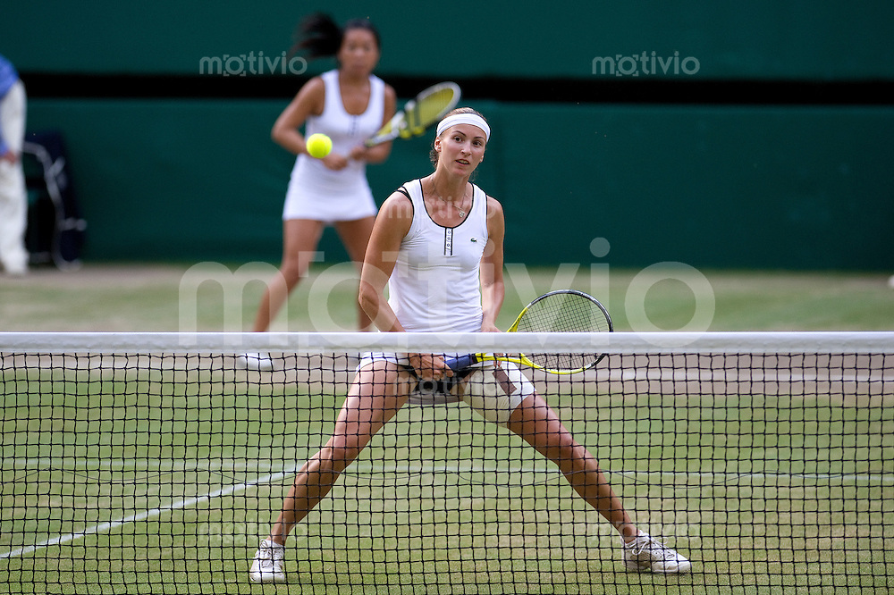 The Final of the Ladies Doubles Vania King (USA) and Yaroslava Shvedova (KAZ) play against  Elena Vesnina (RUS) and Vera Zvonareva (RUS) on Centre Court. The Wimbledon Championships 2010 The All England Lawn Tennis & Croquet Club  Day 12 Saturday 03/07/2010