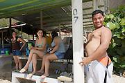 Parque Nacional Mochima. Playa Las Maritas. Venezoelan tourists.