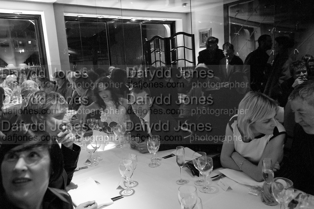 ASTRID MUNOZ, DAN MACMILLAN, ANGHARAD PARRY, Exhibition of work by Marc Newson at the Gagosian Gallery, Davies st. London. afterwards at Mr. Chow, Knightsbridge. 5 March 2008.  *** Local Caption *** -DO NOT ARCHIVE-© Copyright Photograph by Dafydd Jones. 248 Clapham Rd. London SW9 0PZ. Tel 0207 820 0771. www.dafjones.com.