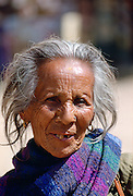 An elderly woman in Nepal.