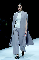 A model presents a creation by designer Hao Jia during China Fashion Week in Beijing, capital of China, March 29, 2016. EXPA Pictures © 2016, PhotoCredit: EXPA/ Photoshot/ Chen Jianli<br /> <br /> *****ATTENTION - for AUT, SLO, CRO, SRB, BIH, MAZ, SUI only*****