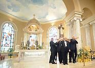 Padre Pio Scultpure Resentation at Saint Bede The Venerable
