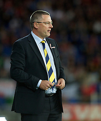 12.10.2012, Cardiff City Stadium, Cardiff, WAL, FIFA WM Qualifikation, Wales vs Schottland, im Bild Scotland's manager Craig Levein during FIFA World Cup Qualifier Match between Wales and Scotland at the Cardiff City Stadium, Cardiff, Wales on 2012/10/12. EXPA Pictures © 2012, PhotoCredit: EXPA/ Propagandaphoto/ David Rawcliffe..***** ATTENTION - OUT OF ENG, GBR, UK *****