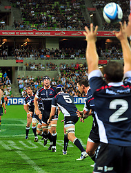 Rebels lineout.Melbourne Rebels v The Sharks.Rugby Union - 2011 Super Rugby.AAMI Park, Melbourne VIC Australia.Friday, 11 March 2011.© Sport the library / Jeff Crow
