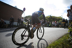 Linda Villumsen (NZL) of Veloconcept Cycling Team mounts a brave challenge on Stage 3 of the Ladies Tour of Norway - a 156.6 km road race, between Svinesund (SE) and Halden on August 20, 2017, in Ostfold, Norway. (Photo by Balint Hamvas/Velofocus.com)