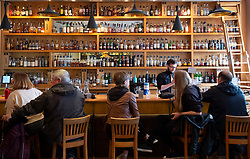 Whisky bar at Scotch Whisky Experience on Royal Mile in Edinburgh, Scotland, UK