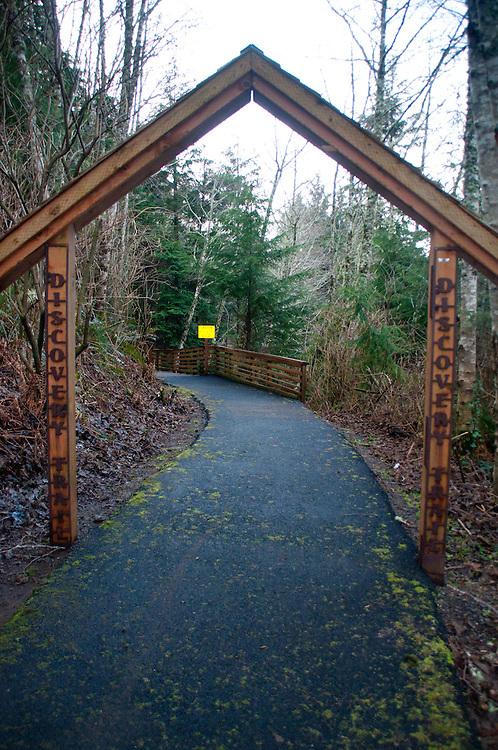 Discovery Trail Entrance, Ilwaco, Washington, US