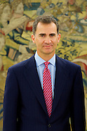 062314 King Felipe VI attends his first audiences at Zarzuela Palace