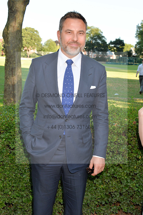 DAVID WALLIAMS at the Frost Family Summer party in support of the British Heart Foundation and the Mile Frost Fund held at Burton Court, Chelsea, London  on 18th July 2016.