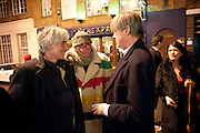 DAVID OGILVY; RICHARD STRANGE; THE MARQUIS OF WORCESTER, The Way We Wore.- Photographs of parties in the 70's by Nick Ashley. Sladmore Contemporary. Bruton Place. London. 13 January 2010. *** Local Caption *** -DO NOT ARCHIVE-© Copyright Photograph by Dafydd Jones. 248 Clapham Rd. London SW9 0PZ. Tel 0207 820 0771. www.dafjones.com.<br /> DAVID OGILVY; RICHARD STRANGE; THE MARQUIS OF WORCESTER, The Way We Wore.- Photographs of parties in the 70's by Nick Ashley. Sladmore Contemporary. Bruton Place. London. 13 January 2010.