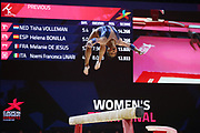 Lorette Chardy (FRANCE) during the Beam contest during the European Championships Glasgow 2018, Women's Artistic Gymnastics , Team Final at The SSE Hydro in Glasgow, Great Britain, Day 3, on August 4, 2018 - Photo Laurent Lairys / ProSportsImages / DPPI