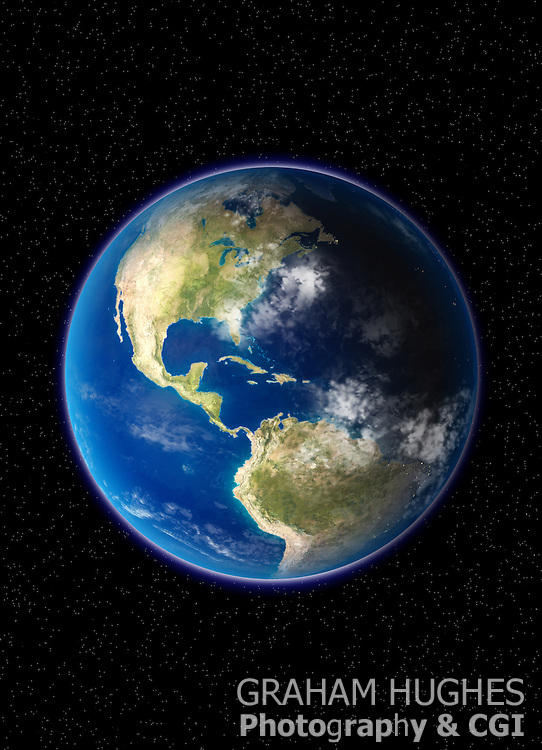 Planet Earth North And South America