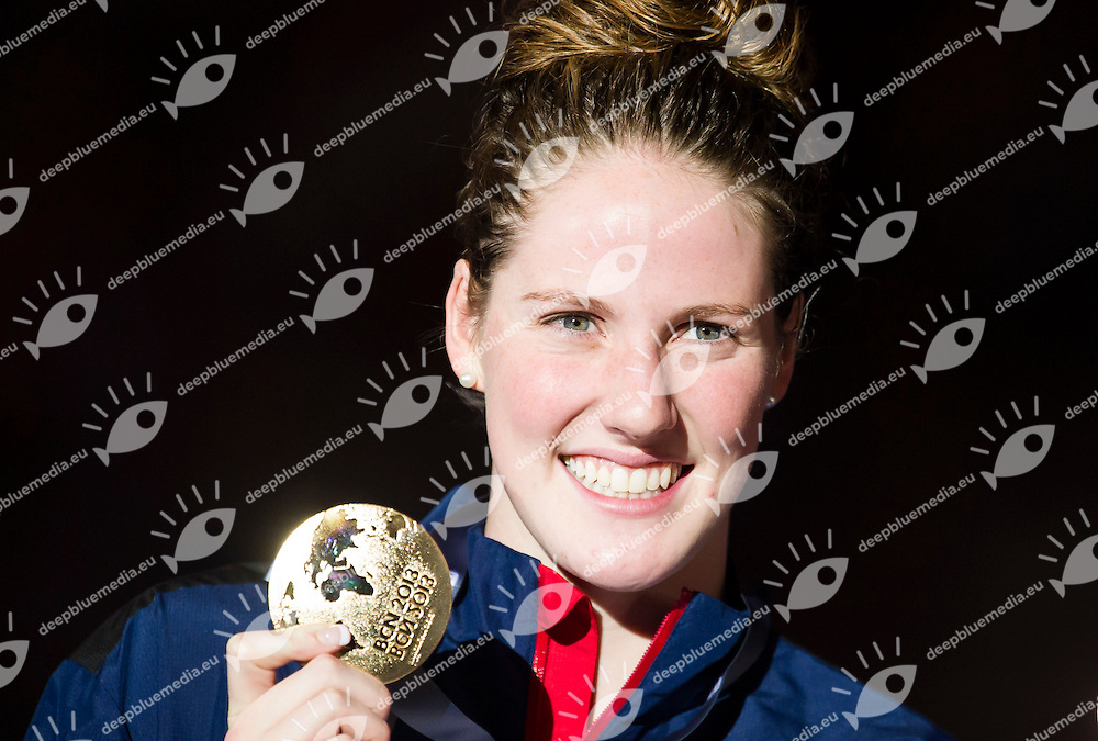 FRANKLIN Melissa USA gold medal<br /> Women's 200m backstroke final<br /> 15th FINA World Aquatics Championships<br /> Palau Sant Jordi, Barcelona (Spain) 03/08/2013 <br /> &copy; Giorgio Perottino / Deepbluemedia.eu / Insidefoto