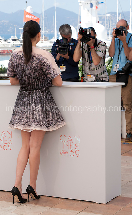 Actress, Nailia Harzoune posing for photographers  at the Chouf film photo call at the 69th Cannes Film Festival Monday 16th May 2016, Cannes, France. Photography: Doreen Kennedy