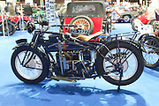 RIAC Classic Car Show 2013, RDS, Henderson_Model K Delux, owner: Paddy Guerin. A 1922 Model K Delux, with a 1301cc, four cylinder engine and a speed gearbox with 3 forwards plus 1 reverse. Irish, Photo, Archive.