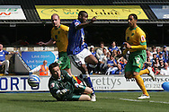 Ipswich - Sunday Aprll 19th 2009: Norwich City goalkeeper David Marshall fouls Kevin Lisbie and gives  away a penalty which Giovani Dos Santos scores to put  his side ahead during the Coca Cola League Championship match at Portman Road, Ipswich. (Pic by Daniel Chesterton/Focus Images)