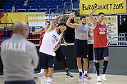DESCRIZIONE: Berlino EuroBasket 2015 - Allenamento<br /> GIOCATORE:Luca Dalmonte Daniel Hackett Alessandro Gentile Danilo Gallinari<br /> CATEGORIA: Allenamento<br /> SQUADRA: Italia Italy<br /> EVENTO:  EuroBasket 2015 <br /> GARA: Berlino EuroBasket 2015 - Allenamento<br /> DATA: 07-09-2015<br /> SPORT: Pallacanestro<br /> AUTORE: Agenzia Ciamillo-Castoria/M.Longo<br /> GALLERIA: FIP Nazionali 2015<br /> FOTONOTIZIA: Berlino EuroBasket 2015 - Allenamento