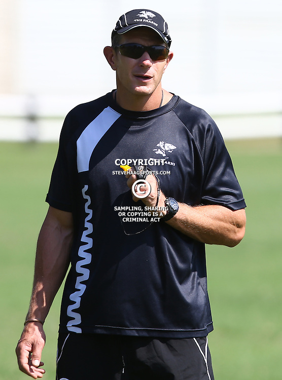 DURBAN, SOUTH AFRICA, 4 April, 2016 - Ryan Strudwick (Assistant Coach) of the Cell C Sharks during The Cell C Sharks training session  at Growthpoint Kings Park in Durban, South Africa. (Photo by Steve Haag)<br /> images for social media must have consent from Steve Haag