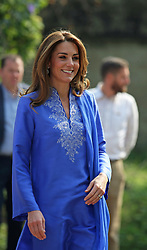 The Duke and Duchess of Cambridge during a visit to a school in central Islamabad on day two of the royal visit to Pakistan. PA Photo. Picture date: Tuesday October 15, 2019. See PA story ROYAL Tour. Photo credit should read: Ian Vogler/Daily Mirror/PA Wire