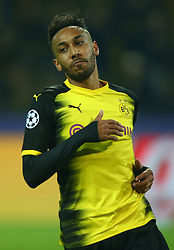 November 21, 2017 - Dortmund, Germany - Pierre-Emerick Aubameyang of Borussia Dortmund  during UEFA Champion  League Group H Borussia Dortmund between Tottenham Hotspur played at Westfalenstadion, Dortmund, Germany 21 Nov 2017  (Credit Image: © Kieran Galvin/NurPhoto via ZUMA Press)