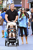 Baldwin family out in New York