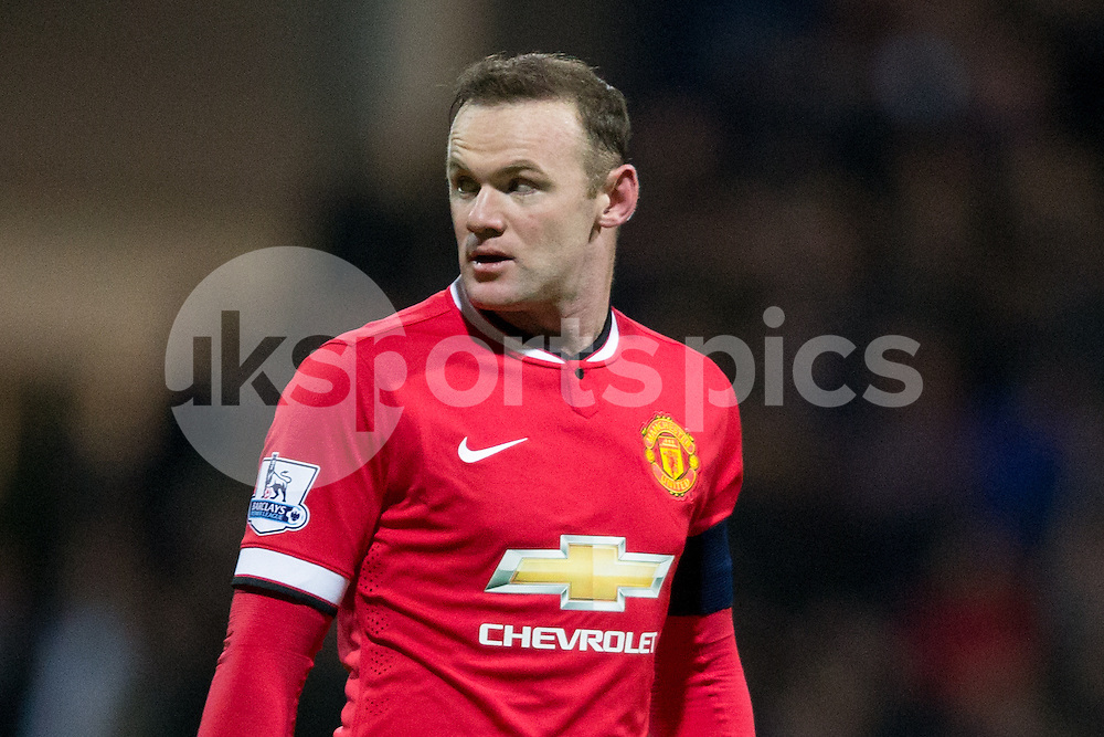 Manchester United's Wayne Rooney during the The FA Cup match between Preston North End and Manchester United at Deepdale, Preston, England on 16 February 2015. Photo by James Williamson.