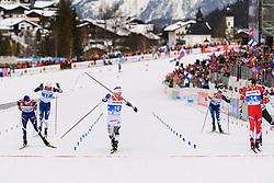 February 21, 2019 - Seefeld In Tirol, Austria - Oskar Svensson of Sweden and Gleb Retivykh of Russia competes in men's cross-country skiing sprint quarter final during the FIS Nordic World Ski Championships on February 21, 2019 in Seefeld in Tirol. (Credit Image: © Joel Marklund/Bildbyran via ZUMA Press)