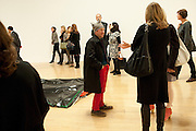 ANDE SOMBY, Private view for the Turner prize exhibition. Tate Britain. London. 4 October 2010. -DO NOT ARCHIVE-© Copyright Photograph by Dafydd Jones. 248 Clapham Rd. London SW9 0PZ. Tel 0207 820 0771. www.dafjones.com.