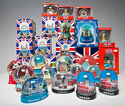 "© Licensed to London News Pictures. 30/11/2014. Over 180 Snow Globes confiscated by London City Airport. If you're planning to give a snow globe as a gift this Christmas, beware when flying off to visit your relatives.  This year 180 snow globes have been confiscated from the hand luggage of passengers departing from London City Airport. The findings have prompted the airport to issue a reminder to people travelling to visit family and friends this Christmas that liquids over 100ml cannot be carried in hand luggage – no matter how kitsch the container.    Declan Collier, CEO of London City Airport said:  ""Who knew that the humble snow globe was such a popular gift.  Our advice is that, whether giving or receiving a gift containing liquid this Christmas, wrap them well in something soft and check them in with your hold luggage.  Whether it's a snow globe or jar of lemon curd from London, whiskey from Scotland, or liqueur chocolates from France - the same rules will apply at every airport.""  All liquids carried in hand luggage must be under 100ml and placed in one, sealed, clear plastic bag. Photo credit : Andrew Baker/LNP"
