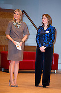 """30-3-2016 AMSTERDAM - Queen Maxima is Wednesday, March 30th, 2016 attended the symposium """"Music Education we do together 'at the Amsterdam Conservatory. During the symposium, the central question is how the class teacher and the teacher of music can combine to good music education in primary school. COPYRIGHT ROBIN UTRECHT<br /> 30-3-2016 AMSTERDAM - Koningin Maxima is woensdag 30 maart 2016 aanwezig bij het symposium 'Muziekeducatie doen we samen' in het Conservatorium van Amsterdam. Tijdens het symposium staat de vraag centraal hoe de groepsleerkracht en de vakdocent muziek samen kunnen zorgen voor goed muziekonderwijs op de basisschool. COPYRIGHT ROBIN UTRECHT"""