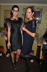 Left to right, HEDVIG OPSHAUG and RAFAELA FEIO at the Bumpkin Halloween Dinner hosted by Marissa Hermer held at Bumpkin, 119 Sydney Street, London on 23rd October 2014.