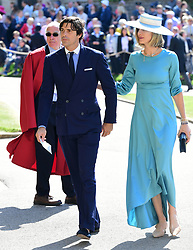 Nacho Figueras and his wife Delfina Blaquier arrive at St George's Chapel at Windsor Castle for the wedding of Meghan Markle and Prince Harry.