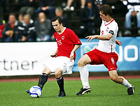 Fotball , 9. august 2011 , U18 privatkamp<br /> Norge - Polen 0-0<br /> Norway - Poland<br /> Erlend Robertsen , Norge<br /> Michal Nalepa , Polen