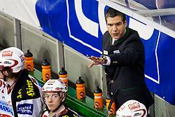 20.01.2012, Hala Tivoli, Ljubljana, SLO, EBEL, HDD Tilia Olimpija vs EC KAC, im Bild Emanuel Viveiros, head coach of EC KAC, // during ice-hockey match between HDD Tilia Olimpija and EC KAC in 44th Round of EBEL league, on Januar 20, 2012 at Hala Tivoli, Ljubljana, Slovenia. EXPA Pictures © 2012, PhotoCredit: EXPA/ Sportida/ Matic Klansek Velej..***** ATTENTION - OUT OF SLO *****