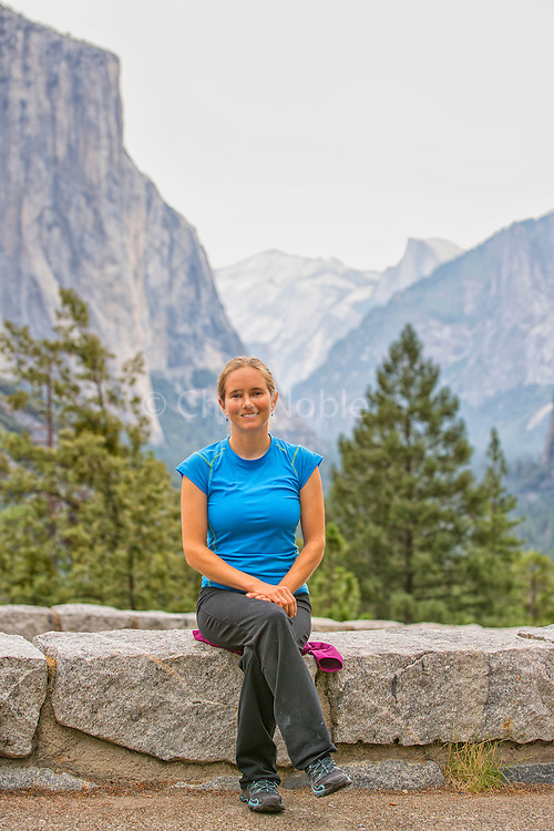 A portrait of professional climber Beth Rodden in Yosemite National Park.