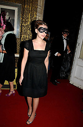 SCARLETT JOHANSSON at the 2006 Moet & Chandon Fashion Tribute in honour of photographer Nick Knight, held at Strawberry Hill House, Twickenham, Middlesex on 24th October 2006.<br />