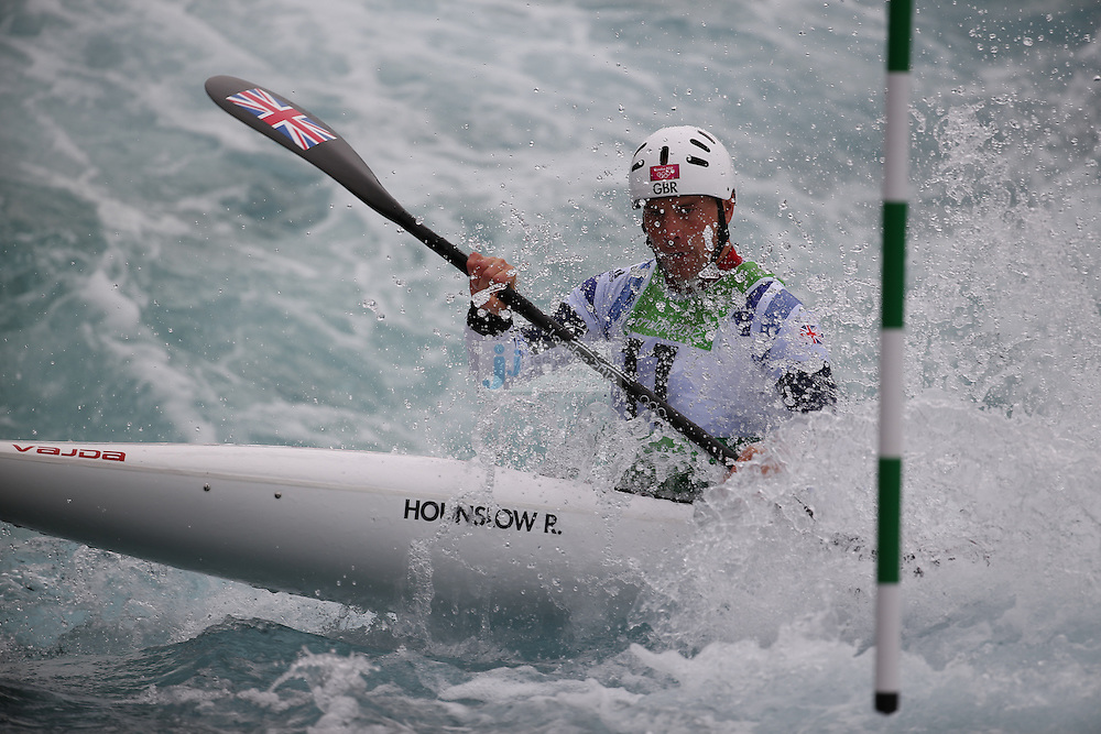 Peter Kauzer of Great Britian competes during the semifinals of the kayak slalom single 1k event at the Lee Valley White Water Centere during day 5 of the London Olympic Games London, England, United Kingdom on August 1, 2012..(Jed Jacobsohn/for The New York Times)....