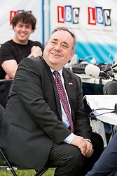 © Licensed to London News Pictures. 06/07/2016. London, UK. Former First Minister of Scotland ALEX SALMOND speaks to LBC Radio on College Green on the day the report of the Iraq Inquiry is published. Salmond has called for legal action against Tony Blair following the publication of the Inquiry, which was predicated to take approximately one year, but has taken seven. Photo credit : Tom Nicholson/LNP