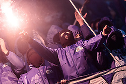 08.12.2016, Red Bull Arena, Salzburg, AUT, UEFA EL, FC Red Bull Salzburg vs Schalke 04, Gruppe I, im Bild Schalke Fans mit bengalischen Fackeln // during the UEFA Europa League group I match between FC Red Bull Salzburg and Schalke 04 at the Red Bull Arena in Salzburg, Austria on 2016/12/08. EXPA Pictures © 2016, PhotoCredit: EXPA/ JFK