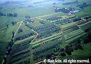 Aerials, Berks Co. PA, Farms, Contour Plowing, Mixed Cropping