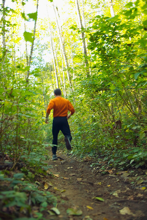 A man out trail running<br />