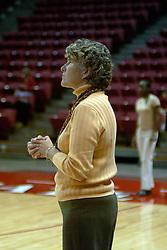 20 November 2004....ISU Head Coach Sharon Dingman....Illinois State University Redbirds V Drake Bulldogs Women's Volleyball.  Redbird Arena, Illinois State University, Normal IL