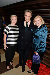 Left to right, LIZ NEWMAN, PETER YORK and BRENDA JOHNSON former USA Ambassador to Jamaica at a party to celebrate Ben Goldsmith guest-editing the July/August 2013 edition of Spears Magazine held at 45 Park Lane, London on 19th June 2013.