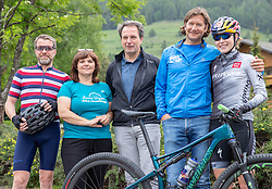 11.06.2019, Kals am Grossglockner, AUT, Laura Stigger Bike Challenge, Pressekonferenz, im Bild Alois Rathgeb (Gemnova), Laura Stigger, BGM Erika Rogl, Franz Theurl (TVBO), Martin Gratz (TVBO) // Alois Rathgeb (Gemnova), Laura Stigger, BGM Erika Rogl, Franz Theurl (TVBO), Martin Gratz (TVBO) during a press conference for the Laura Stigger Bike Challenge in Kls am Grossglockner. Austria on 2019/06/11. EXPA Pictures © 2019, PhotoCredit: EXPA/ Johann Groder