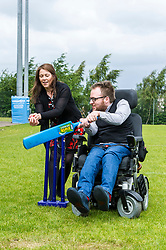 Pictured: Ms Campbell met cricketer Mark Cooper during her visit<br /> <br /> During a visit to Meggatland Sports Complex in Ediburgh today, Minister for Sport, Aileen Campbell, launched a GBP1 million cash fund as part of a new programme aimed at using the power of sport to change lives and create a more inclusive and healthier nation.<br /> <br /> Ger Harley; Edinburgh Elite media