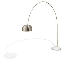 large silver reading lamp