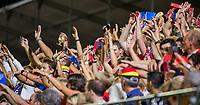 ANTWERPEN - publiek, audience, public,    tijdens finale mannen  Belgie-Spanje-,  bij het Europees kampioenschap hockey. links Loïck Luypaert (Belgie)   WSP/ KOEN SUYK