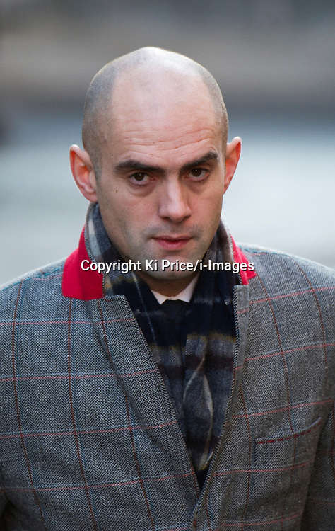 News of The World journalist Daniel Sanderson arrives at the Leveson inquiry to give evidence  on December 15th 2011..Sanderson will give evidence at The Leveson Inquiry into press standards at The Royal Courts of Justice, London, UK, Photo by Ki Price/i-Images