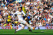 Leeds United striker Pierre-Michel Lasogga (9) shoots at goal during the EFL Sky Bet Championship match between Leeds United and Burton Albion at Elland Road, Leeds, England on 9 September 2017. Photo by Richard Holmes.